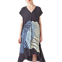 Buy Jigsaw Floating Poppy Trapeze Dress, Midnight Grey/Multi Online at johnlewis.com