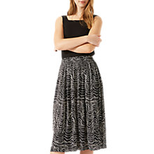 Buy Jigsaw Patella Wave Midi Skirt, Dark Navy Online at johnlewis.com