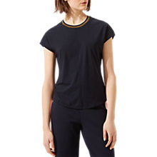 Buy Jigsaw Bi-Coloured Trim T-Shirt, Navy Online at johnlewis.com