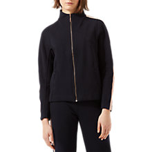 Buy Jigsaw Double Face Zip Tracksuit Top, Navy Online at johnlewis.com