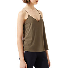 Buy Jigsaw Spaghetti Strap Racer Back Cami Top, Khaki Online at johnlewis.com