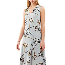 Buy Jigsaw Dancing Tulip Silk Maxi Dress, Icy Grey Online at johnlewis.com