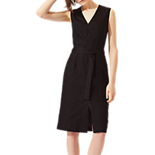 Buy Jigsaw Linen Belted Dress, Midnight Grey Online at johnlewis.com