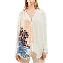 Buy Jigsaw Floating Poppy Trapeze Silk Blouse, Ivory Online at johnlewis.com