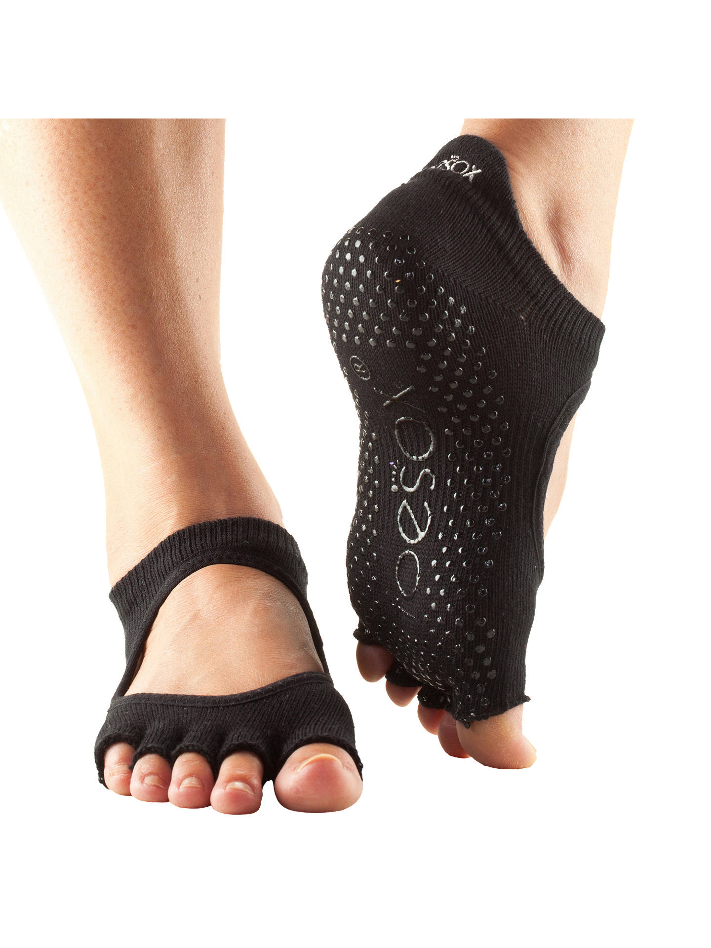 BuyBellarina Half Toe Barre Toesox, Black, S Online at johnlewis.com