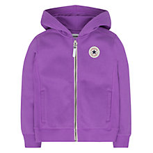 Buy Converse Girls' Zip Through Hoodie, Violet Online at johnlewis.com