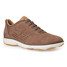 Buy Geox Nebula Nubuck Slip-On Trainers, Dark Brown Online at johnlewis.com