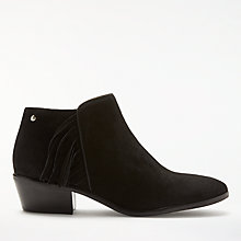 Buy John Lewis Pagan Western Ankle Boots, Black Nubuck Online at johnlewis.com