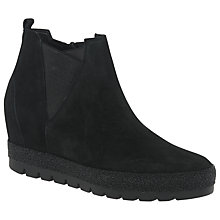 Buy Gabor Marvelous Wide Fit Ankle Boots, Black Online at johnlewis.com