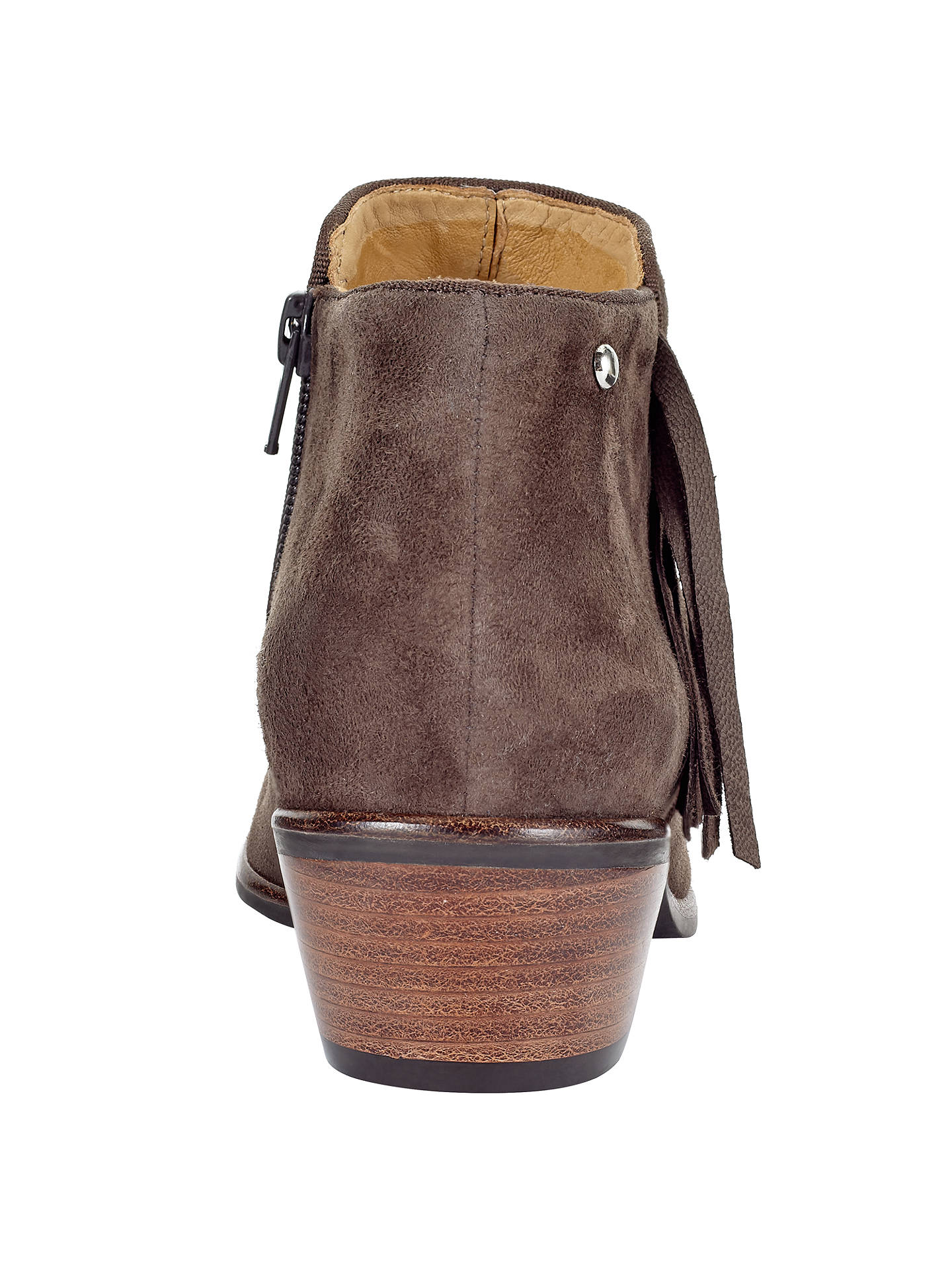 63e0615c8d0 John Lewis Pagan Western Ankle Boots, Brown Nubuck at John Lewis ...