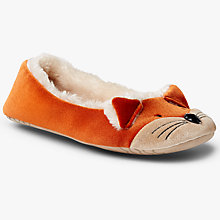 Buy John Lewis Fox Ballet Slippers, Multi Online at johnlewis.com