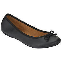 Buy John Lewis Hermione Bow Ballet Pumps, Black Online at johnlewis.com