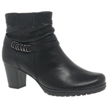 Buy Gabor Pollyanna Wide Fit Block Heeled Ankle Boots, Black Online at johnlewis.com