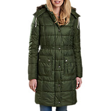 Buy Barbour Winterton Long Baffle Quilted Jacket, Kelp Online at johnlewis.com