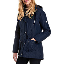 Buy Barbour Throw Waterproof Hooded Jacket, Navy Online at johnlewis.com
