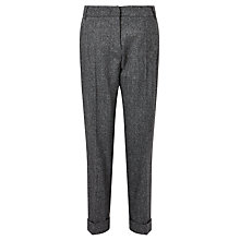 Buy Weekend MaxMara Melfi Textured Trousers, Dark Grey Online at johnlewis.com