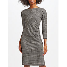 Buy Weekend MaxMara Tago Jersey Printed Check Dress, Black Online at johnlewis.com