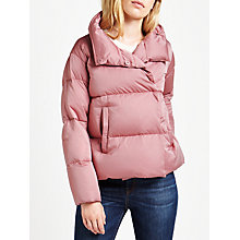 Buy Weekend MaxMara Caio Quilted Coat, Dark Mauve Online at johnlewis.com