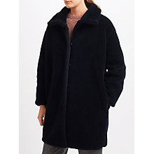 Buy Weekend MaxMara Lipari Faux Fur Coat, Ultramarine Online at johnlewis.com