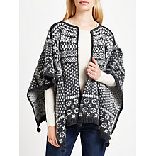 Buy Weekend MaxMara Chicco Jacquard Cape, Dark Grey Online at johnlewis.com