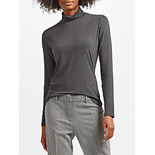 Buy Weekend MaxMara Multi G Jersey Roll Neck Top, Dark Grey Online at johnlewis.com