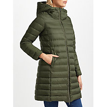 Buy Weekend MaxMara Cluny Quilted Coat, Khaki Online at johnlewis.com