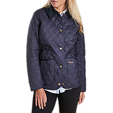 Buy Barbour Annandale Diamond Quilted Coat, Navy Online at johnlewis.com