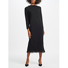 Buy Weekend MaxMara Calabra Knitted Maxi Dress, Black Online at johnlewis.com