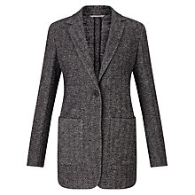 Buy Weekend MaxMara Orano Herringbone Jacket, Black Online at johnlewis.com