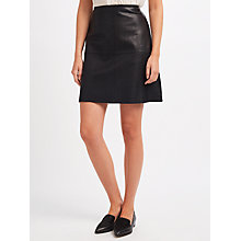 Buy Weekend MaxMara Pio Leather Jersey Back Skirt, Black Online at johnlewis.com