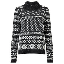 Buy Weekend MaxMara Fly Graphic Fairisle Knit Jumper, Grey Online at johnlewis.com