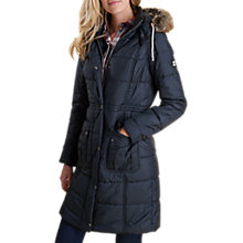 Buy Barbour Winterton Long Baffle Quilted Coat, Black Online at johnlewis.com