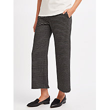 Buy Weekend MaxMara Ovada Stripe Trousers, Black Online at johnlewis.com