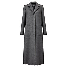 Buy Weekend MaxMara Long Line Tweed Coat, Black Online at johnlewis.com