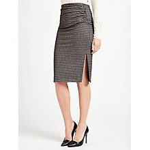 Buy Weekend MaxMara Mogana Jersey Check Skirt, Black Online at johnlewis.com