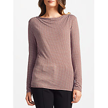 Buy Weekend MaxMara Gerico Jersey Top, Dark Red Online at johnlewis.com