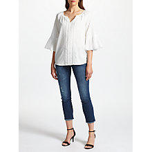 Buy Velvet by Graham & Spencer Celina Summer Voile Top, Cream Online at johnlewis.com