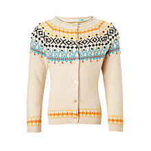Buy John Lewis Girls' Fair Isle Cardigan, Cream Online at johnlewis.com