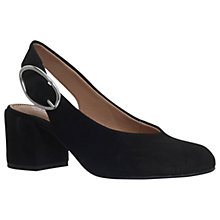 Buy Carvela Alamo Slingback Block Heeled Court Shoes, Black Online at johnlewis.com