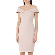 Buy Reiss Haddi Off The Shoulder Dress, Soft Apricot Online at johnlewis.com