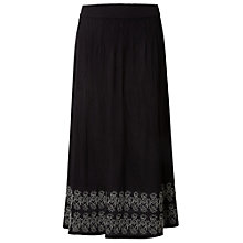 Buy White Stuff Alissa Embroidered Crinkled Skirt, Black Online at johnlewis.com