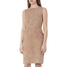 Buy Reiss Bray Suede Tie Dress, Natural Online at johnlewis.com