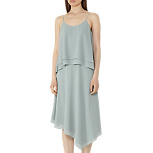 Buy Reiss Ansley Layered Dress, Ocean Green Online at johnlewis.com