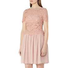 Buy Reiss Milla Lace Dress, Tea Rose Online at johnlewis.com