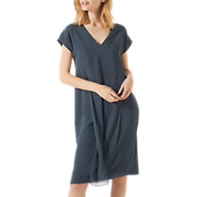 Buy Jigsaw Silk Front Jersey Dress, Bay Leaf Online at johnlewis.com