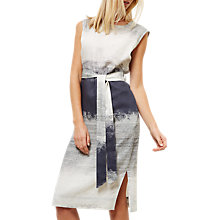 Buy Jaeger Degrade Print Dress, Multi/Grey Online at johnlewis.com