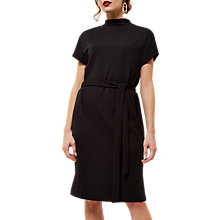 Buy Jaeger Jersey Draped Neck Dress, Black Online at johnlewis.com
