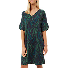 Buy Jaeger Banana Leaf Print Jersey Dress, Green Online at johnlewis.com