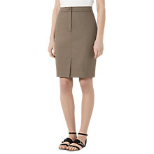 Buy Reiss Raia Casual Pencil Skirt, Khaki Online at johnlewis.com