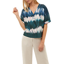 Buy Jaeger Ombré Print Top, Blue/Multi Online at johnlewis.com